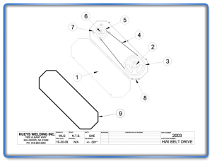 Broom Model 26-46 Belt Drive Schematic