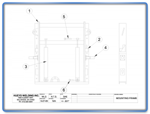 Plow Model 26-46 Mounting Frame Schematic
