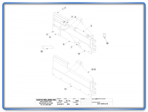 Wing Model 46-6-2 Articulating Template Schematic